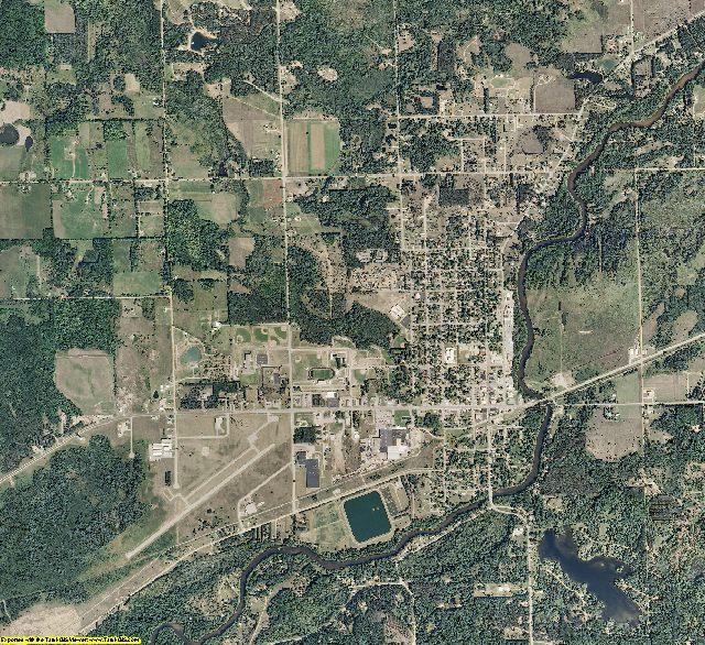 Osceola County, Michigan aerial photography