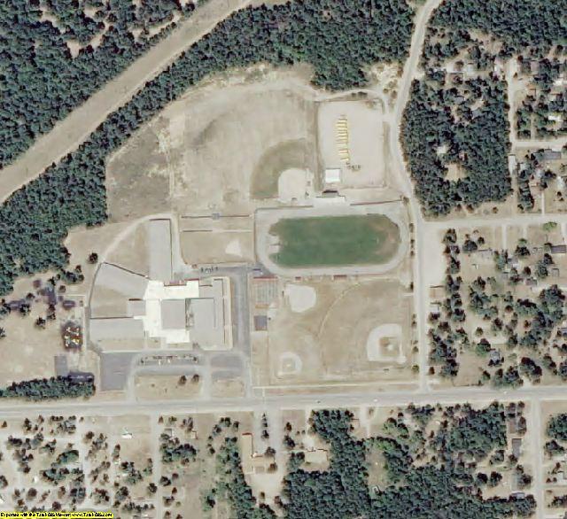 Oscoda County, MI aerial photography detail