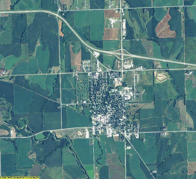 Otoe County, Nebraska aerial photography