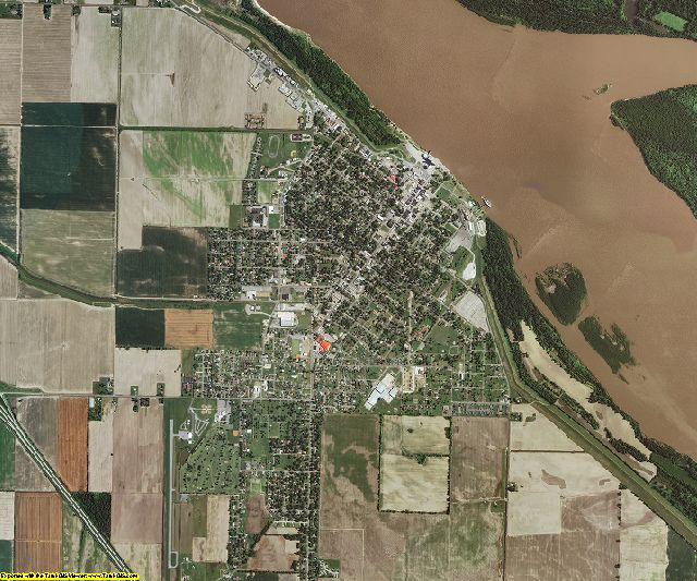 Pemiscot County, Missouri aerial photography