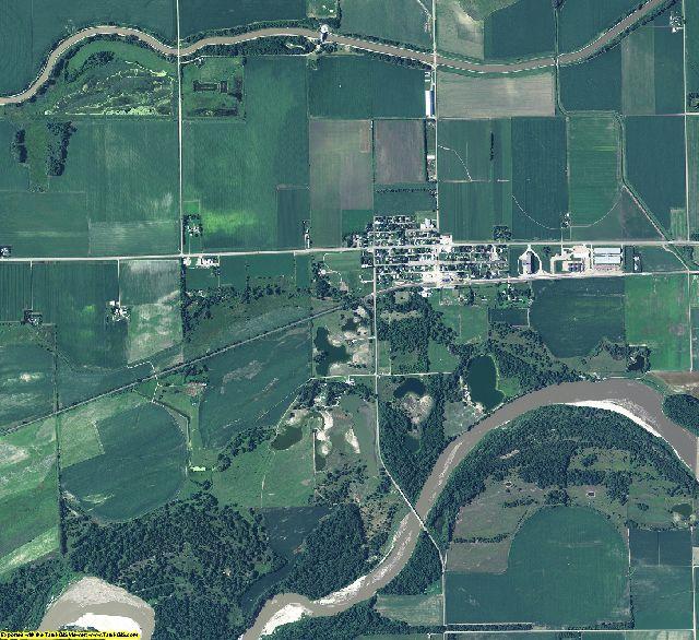 Platte County, Nebraska aerial photography