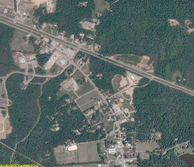 Powhatan County, VA aerial photography detail