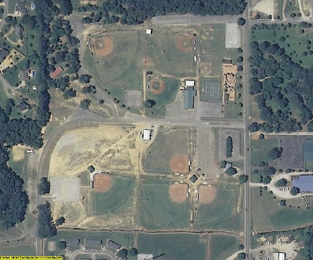 Prentiss County, MS aerial photography detail