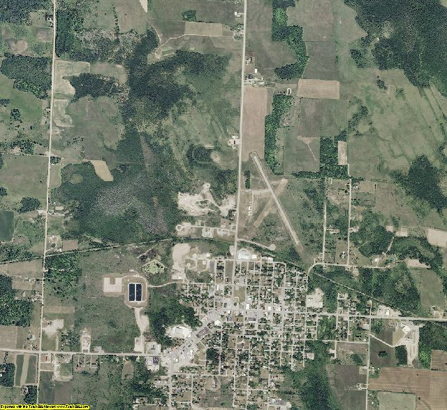 Presque Isle County, Michigan aerial photography
