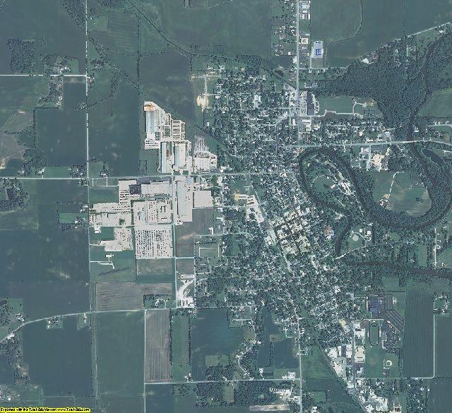Pulaski County, Indiana aerial photography