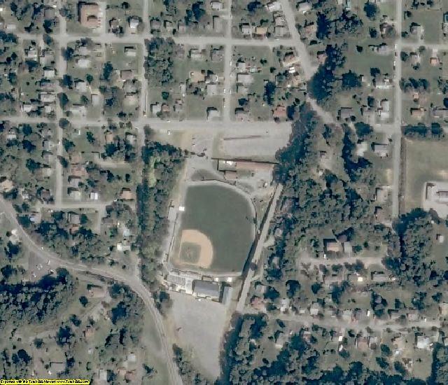 Pulaski County, VA aerial photography detail