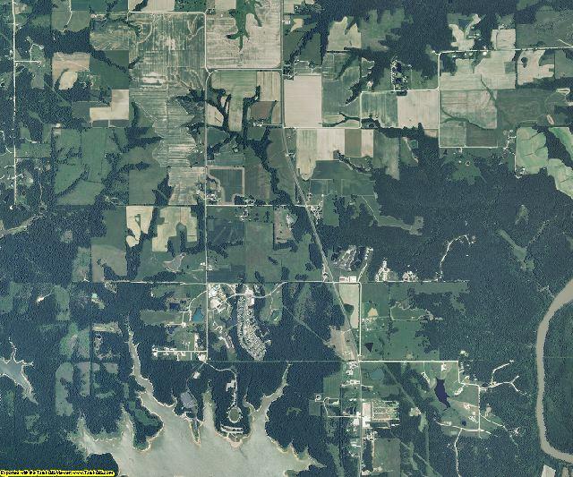 Ralls County, Missouri aerial photography