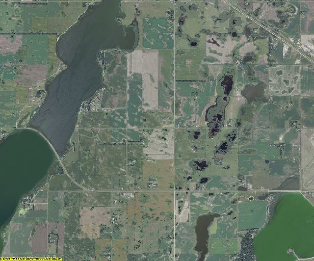 Ramsey County, North Dakota aerial photography