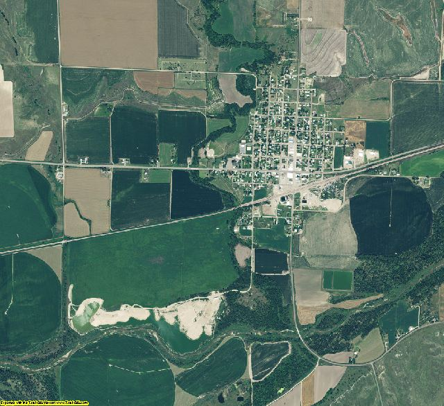 Red Willow County, Nebraska aerial photography