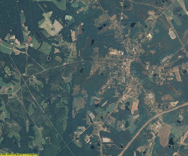 Richmond County, North Carolina aerial photography