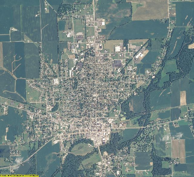 Rush County, Indiana aerial photography
