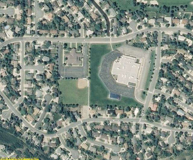 Salt Lake County, UT aerial photography detail