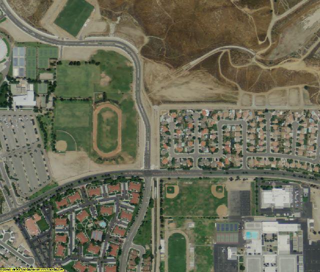 San Bernardino County, CA aerial photography detail