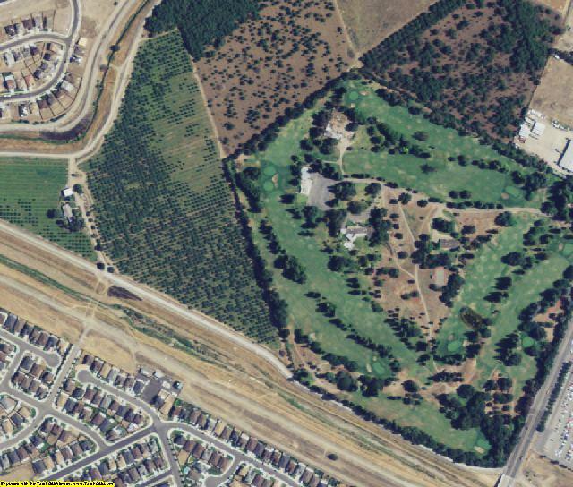 San Joaquin County, CA aerial photography detail