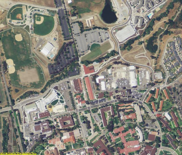 San Luis Obispo County, CA aerial photography detail