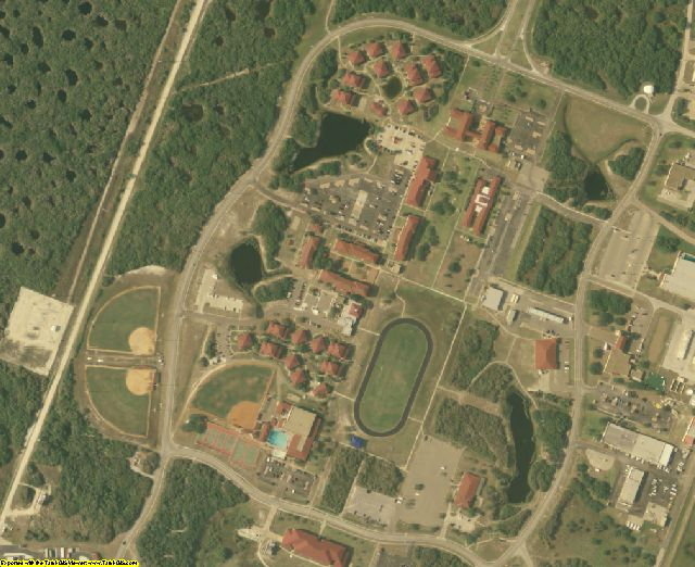 San Patricio County, TX aerial photography detail