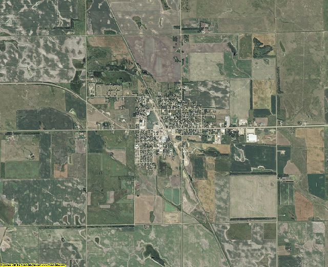 Sanborn County, South Dakota aerial photography