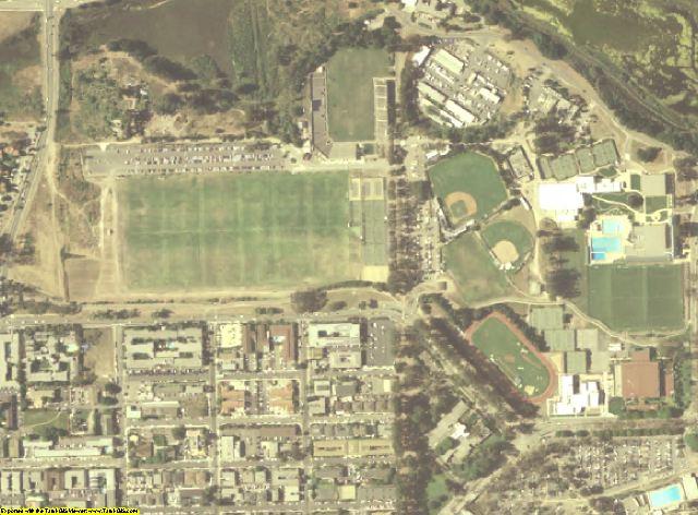 Santa Barbara County, CA aerial photography detail