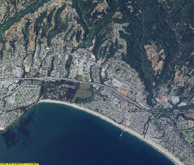 Santa Cruz County, California aerial photography
