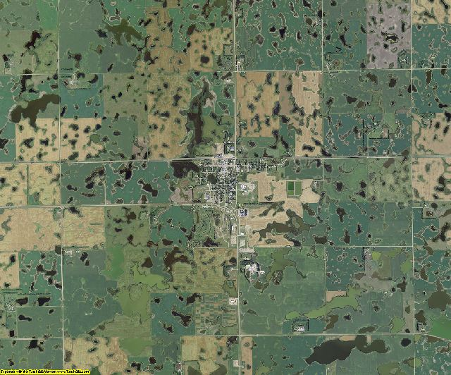 Sargent County, North Dakota aerial photography