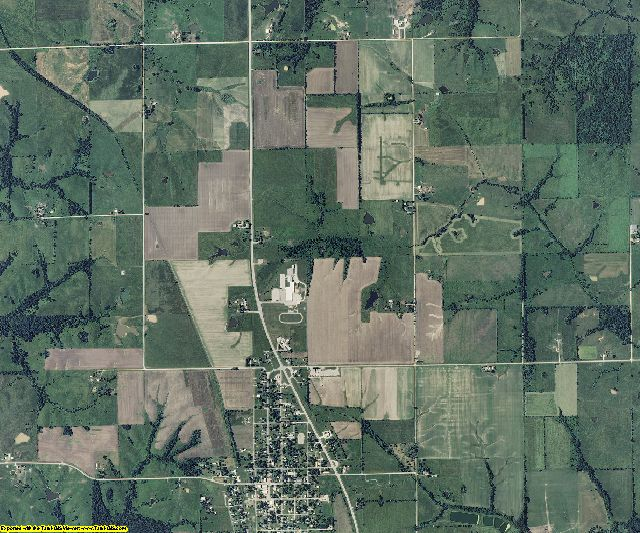 Schuyler County, Missouri aerial photography