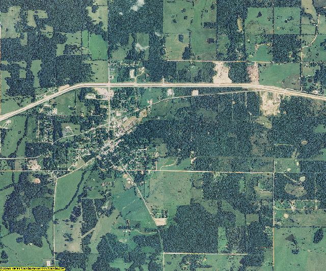 Shannon County, Missouri aerial photography