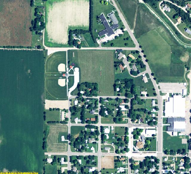 Sherman County, NE aerial photography detail