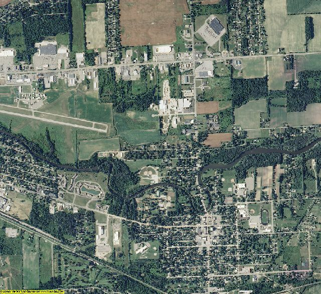 Shiawassee County, Michigan aerial photography
