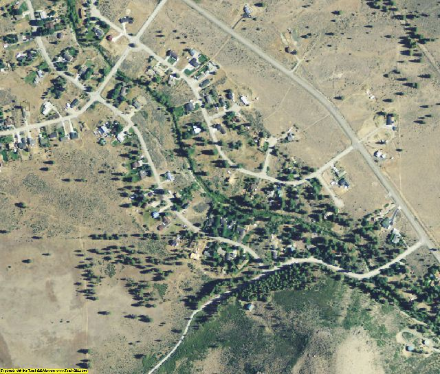 Sierra County, CA aerial photography detail