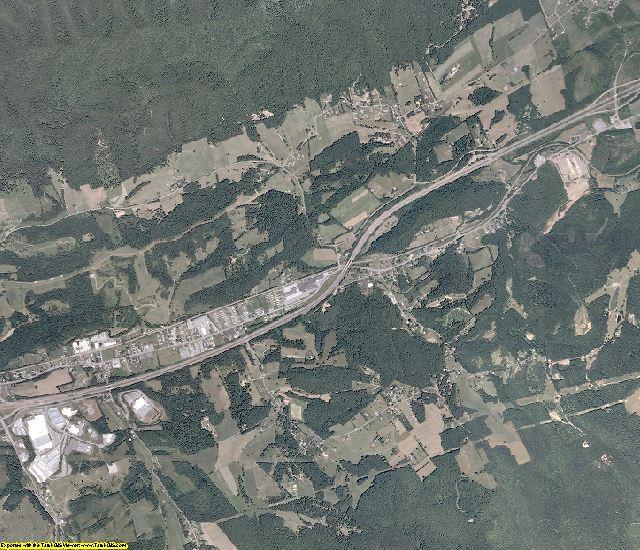 Smyth County, Virginia aerial photography
