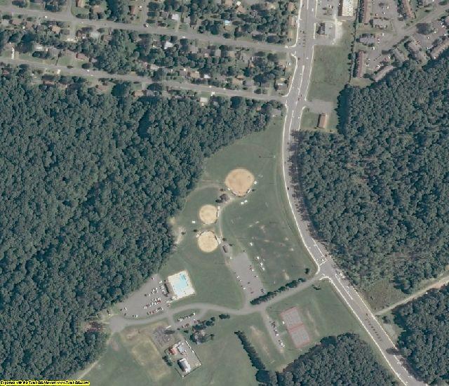 Spotsylvania County, VA aerial photography detail