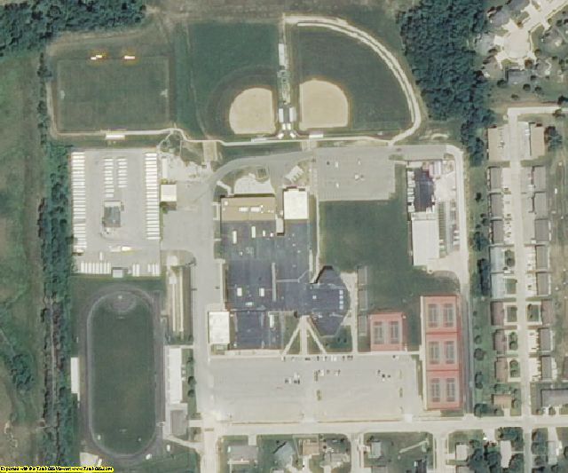 St. Charles County, MO aerial photography detail