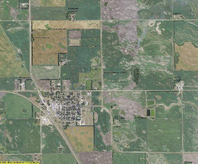 Steele County, North Dakota aerial photography