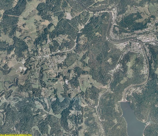 Taylor County, West Virginia aerial photography