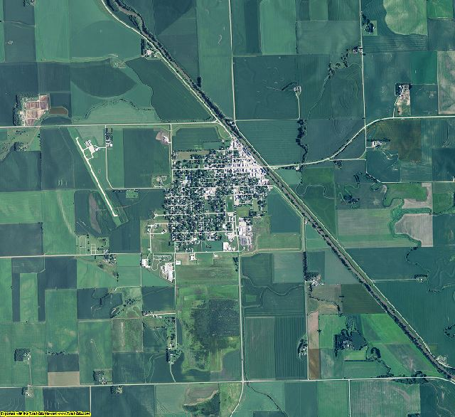 Thurston County, Nebraska aerial photography