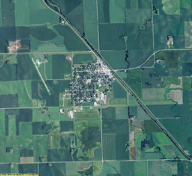 Thurston County, Nebraska aerial photography