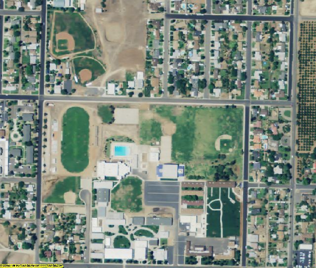 Tulare County, CA aerial photography detail