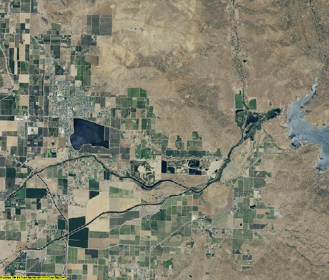Tulare County, California aerial photography