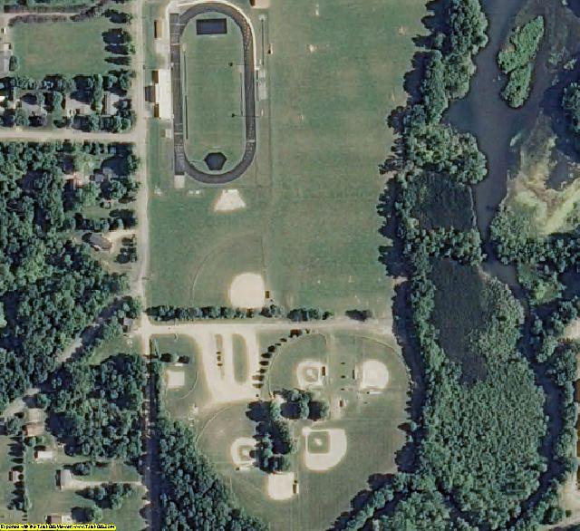 Van Buren County, MI aerial photography detail