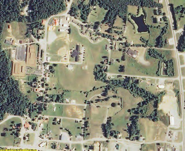 Van Buren County, TN aerial photography detail