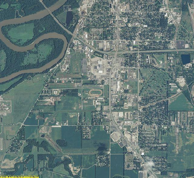 Vigo County, Indiana aerial photography