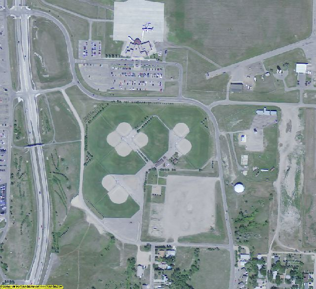 Ward County, ND aerial photography detail