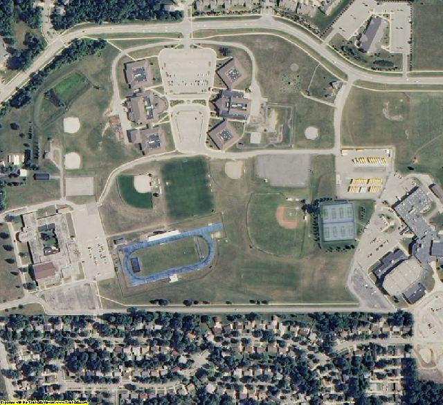 Washtenaw County, MI aerial photography detail