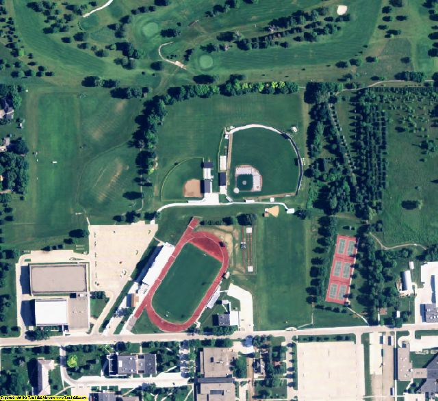 Wayne County, NE aerial photography detail