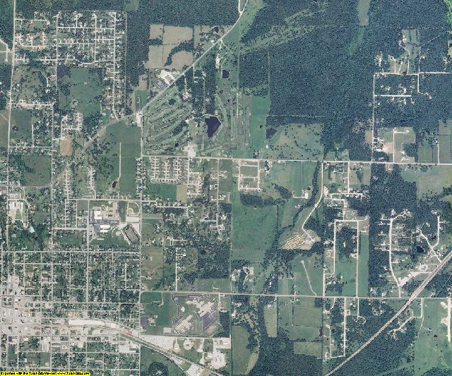 Webster County, Missouri aerial photography