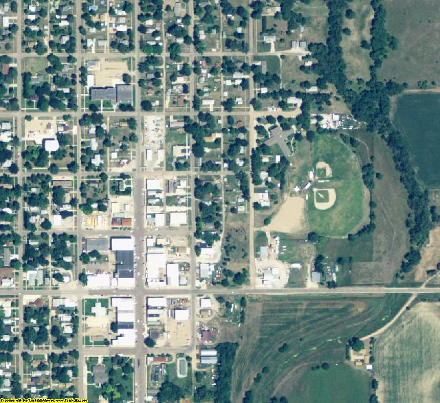 Webster County, NE aerial photography detail
