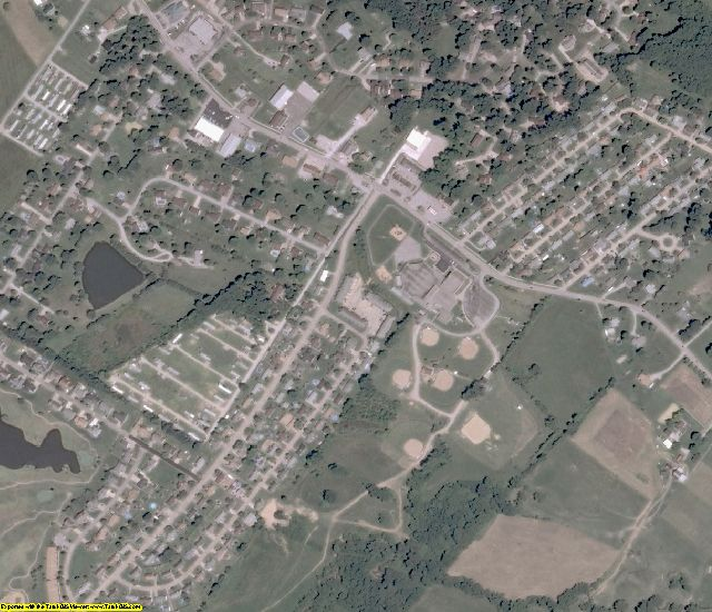 Wood County, WV aerial photography detail