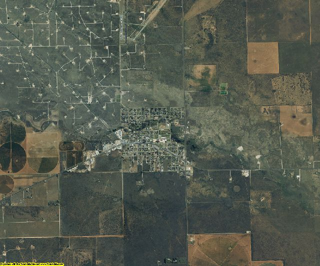 Yoakum County, Texas aerial photography