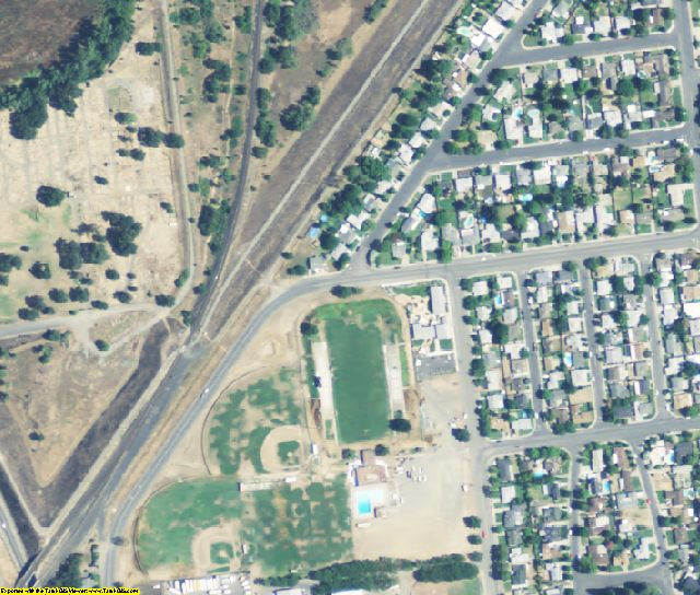 Yuba County, CA aerial photography detail