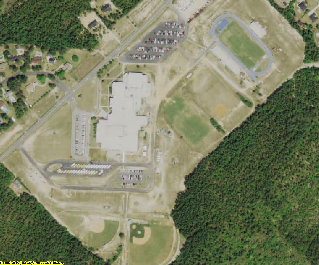 Aiken County, SC aerial photography detail